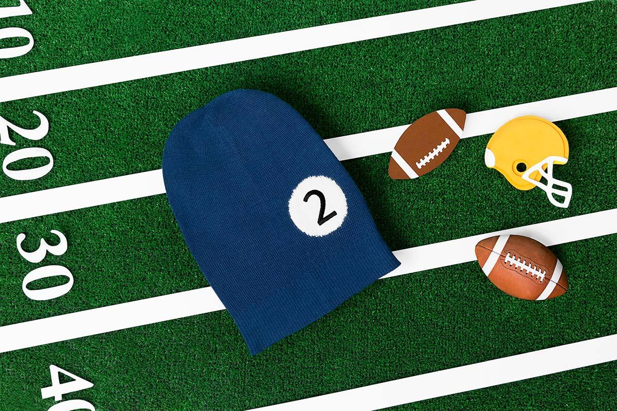 Beanie inspirado en el fútbol americano - Fotografía web - Beanifield