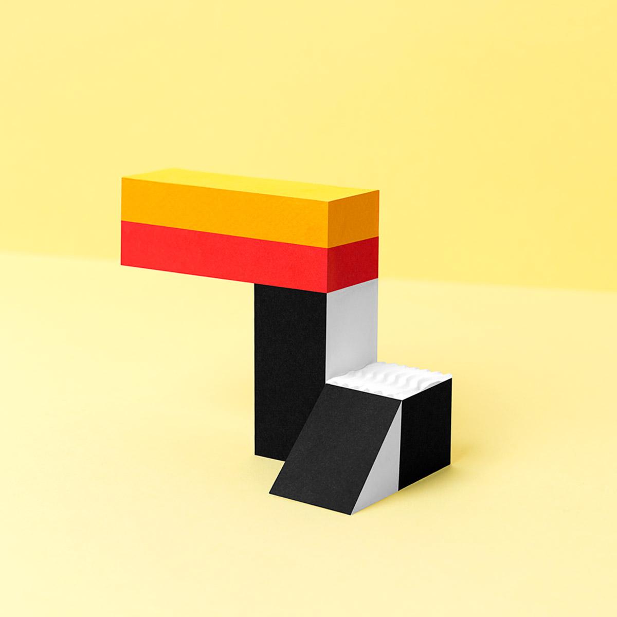 """Fotografía conceptual inspirada en el """"low poly"""" - Pájaro tucán - Låpsüs"""