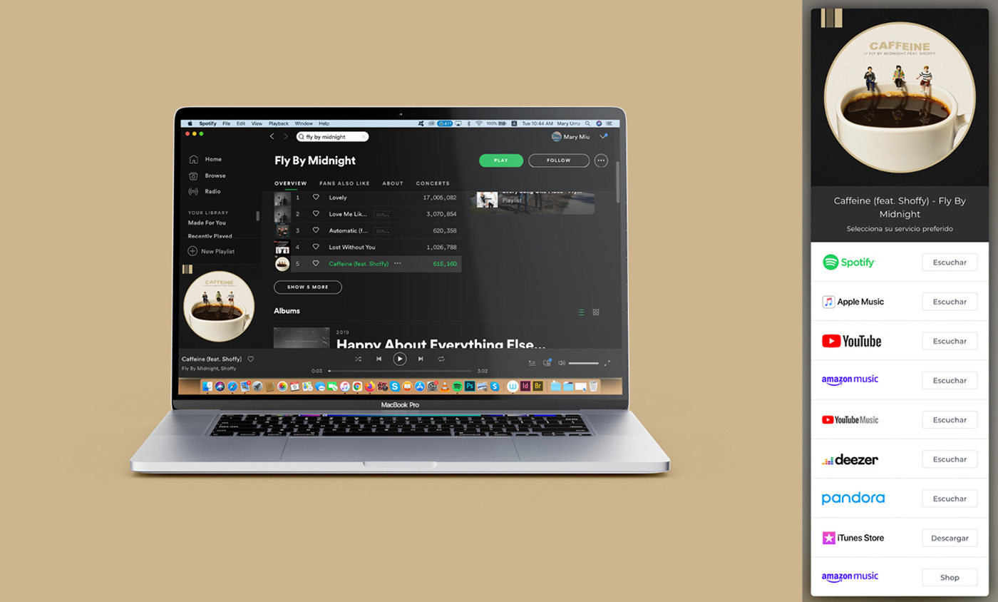 Caffeine on Spotify - Fly By Midnight & Shoffy - Cover Photography Låpsüs