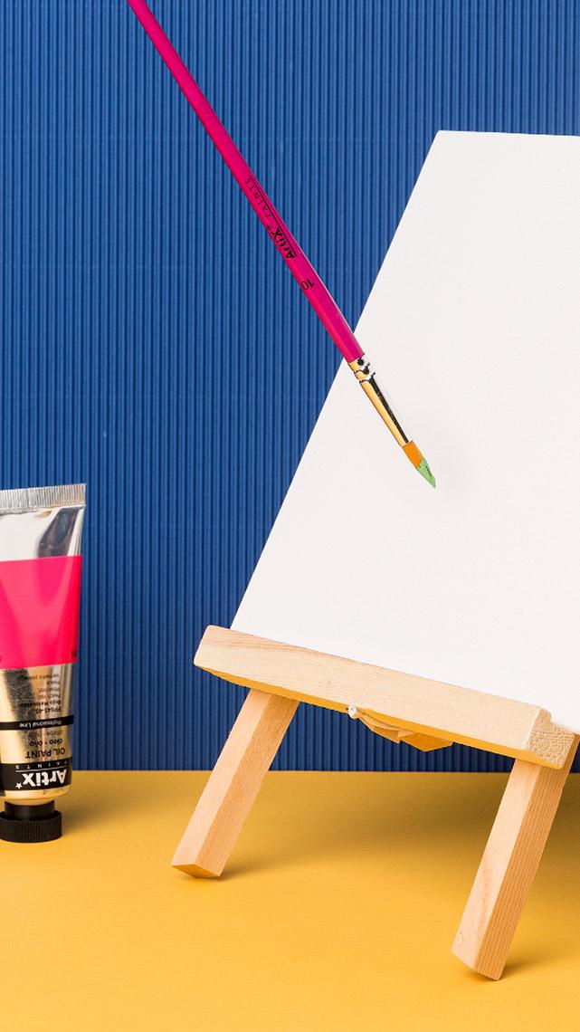 Fotografía Creativa - Marketing Visual - Detalles Pincel y Lienzo - Pinturas & Manualidades - Papelería - Madrid Papel - Låpsüs