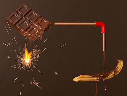 Diseño de infografías fotográficas en la serie de recetas Sweetduction, ¡las meriendas dulces más divertidas!